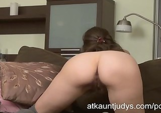 victoria fingers her wet slit and gets off.